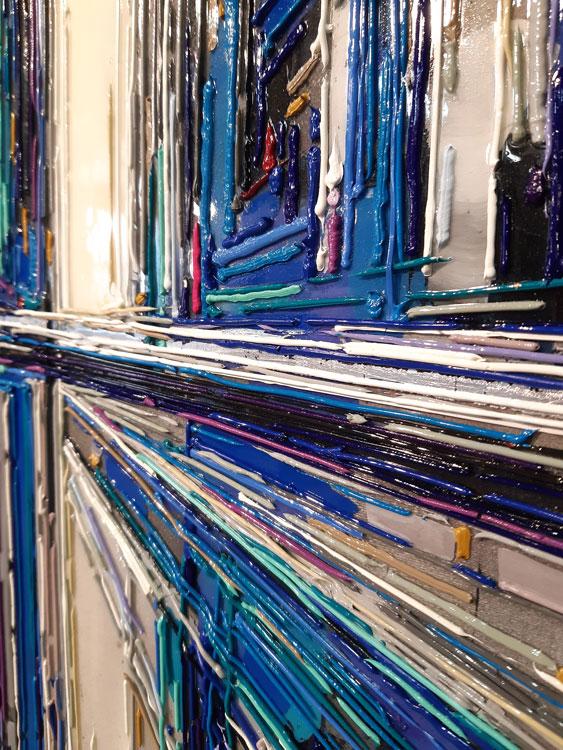leslie berthet laval artiste peintre peinture art toile acrilyque huile résine seringue