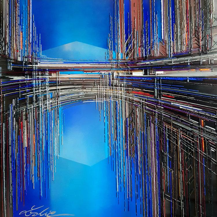 leslie berthet laval artiste peintre peinture art canvas toile acrilyque huile résine seringue tableau