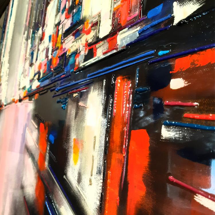 leslie berthet laval artiste peintre peinture toile art acrilyque huile résine seringue atelier galerie