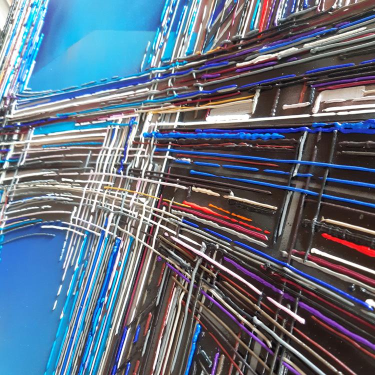 leslie berthet laval artiste peintre original art work peinture modern contemporain art toile canvas acrilyque huile résine couleurs mouvement