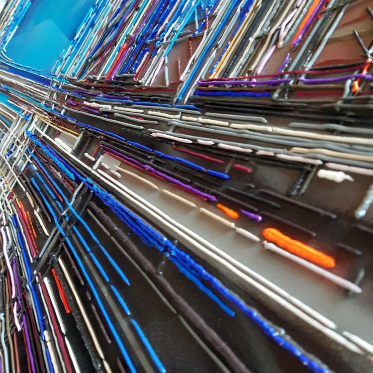 leslie berthet laval photo détail tableau art peinture acrilyque technique muste huile toile résine seringue contemporain
