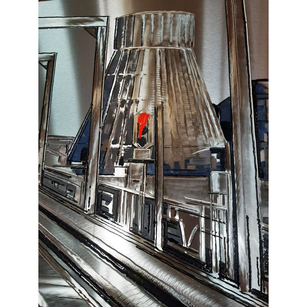 Détail 3 Reflets sur Charleroi 60x180 cm ref URB0253-