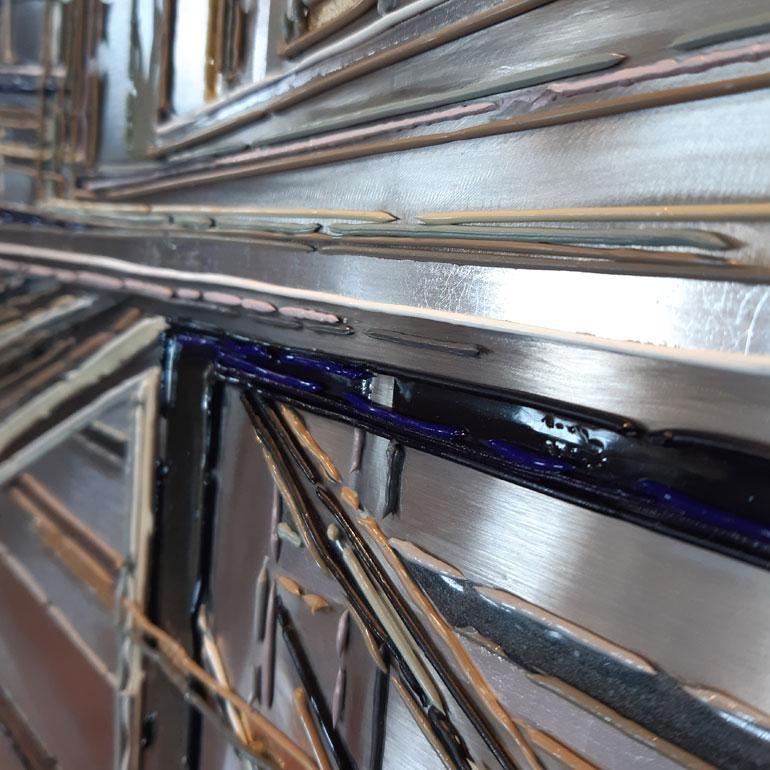 Detail 1 De fil et dAcier 120x120 cm ref URB351