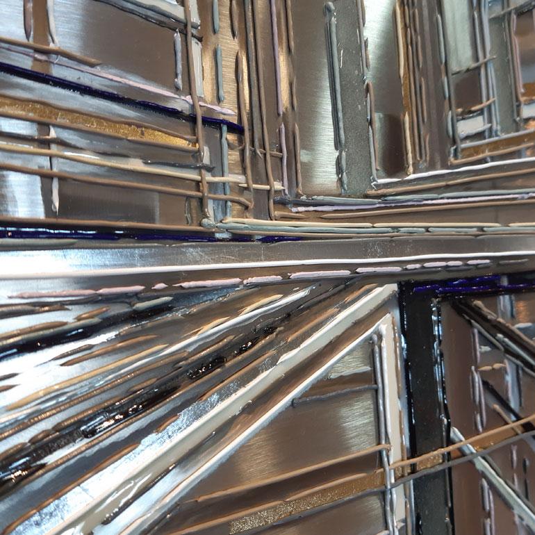 Detail 2 De fil et dAcier 120x120 cm ref URB351