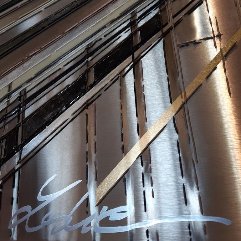 Detail 3 De fil et dAcier 120x120 cm ref URB351