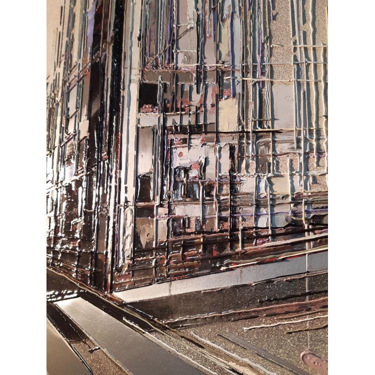 Détail 1 Cité urbaine 80x80 cm ref URB0298
