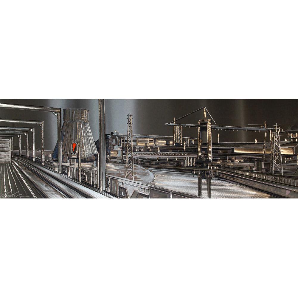 Reflets sur Charleroi 60x180 cm ref URB0253-